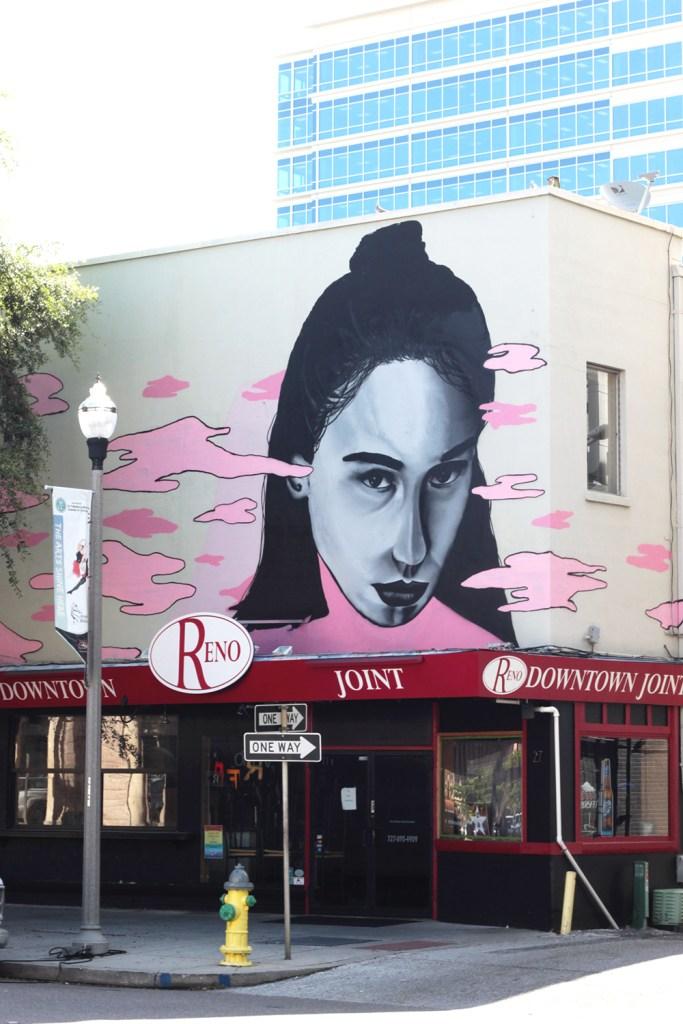 Face wall mural St. petersburg