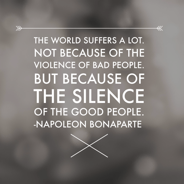 The world suffers a lot quote