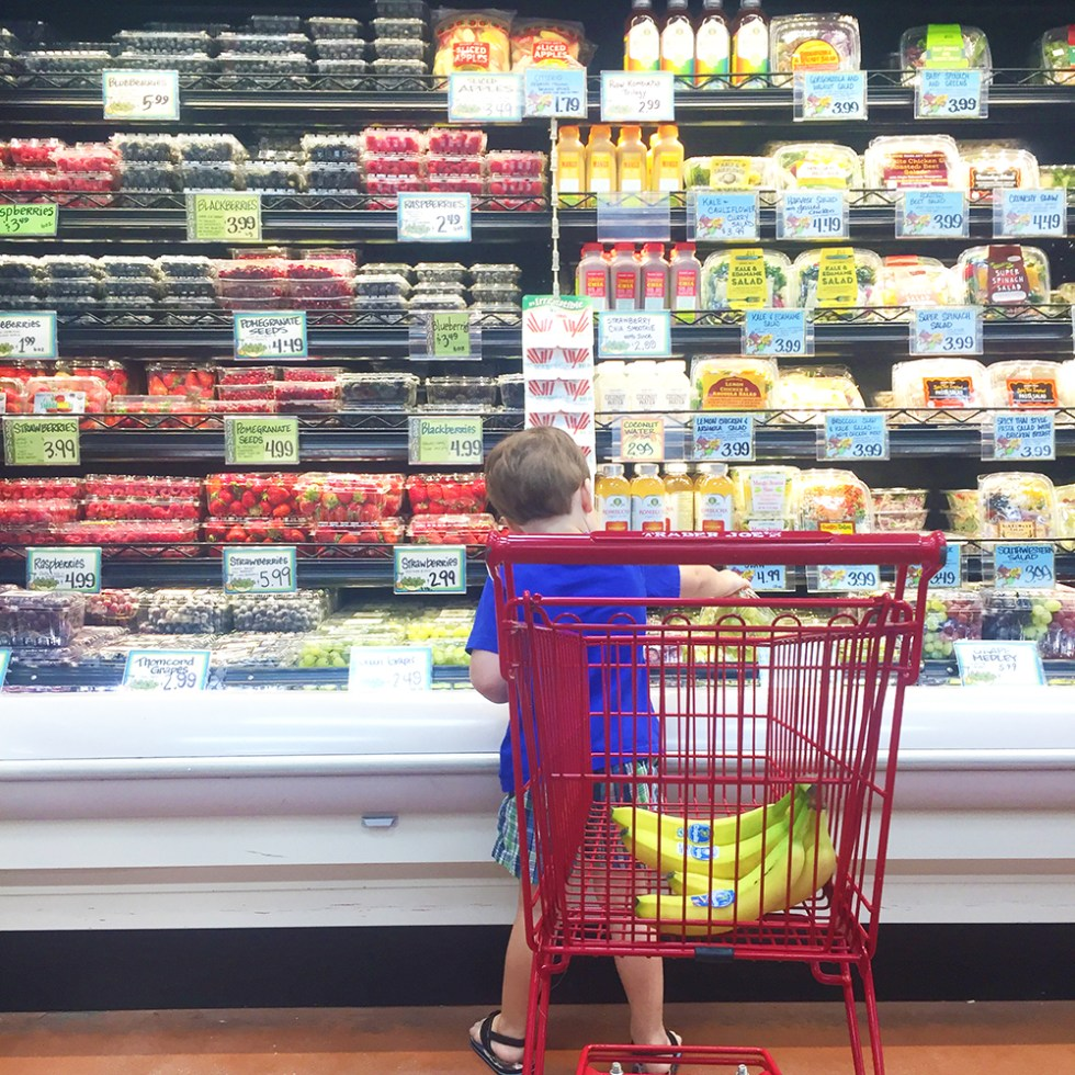 Robert helping me grocery shop