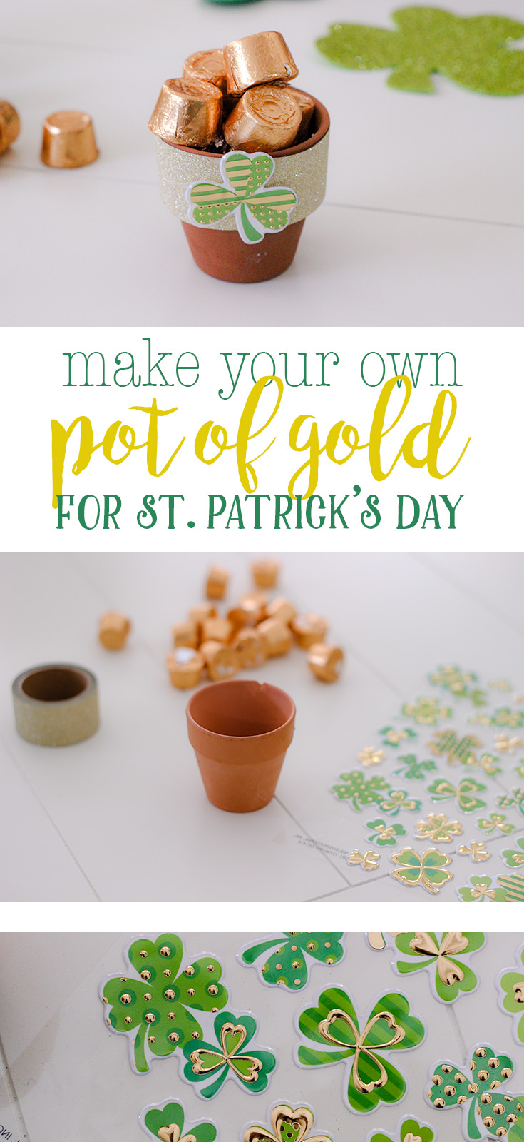 St. Patrick's Day craft Easy DIY for how to make your own pot of gold for St. Patrick's Day