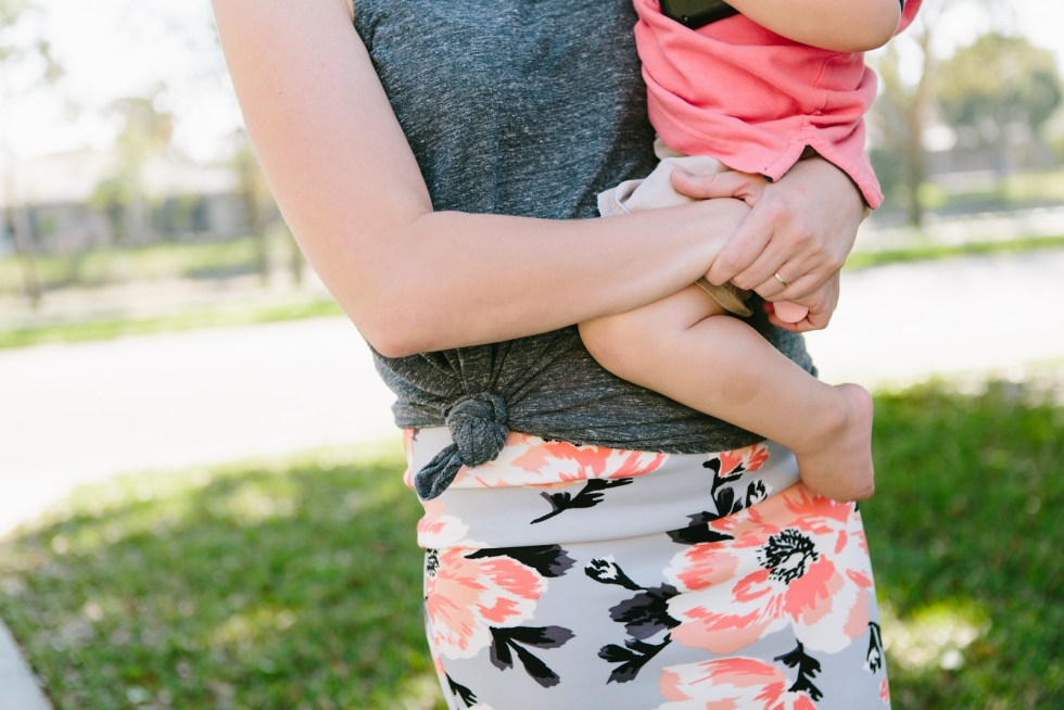 Floral skirt is kid friendly from Cents of Style