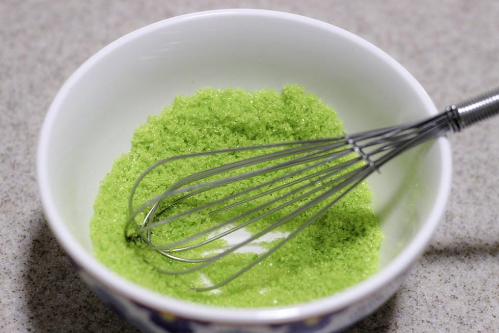 Green sugar for St. Patrick's Day mocktails