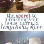 How to Furnish your Home for a Temporary Move