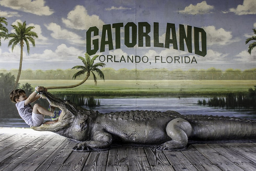 Family Activities in Orlando- Fun photo opp at Gatorland
