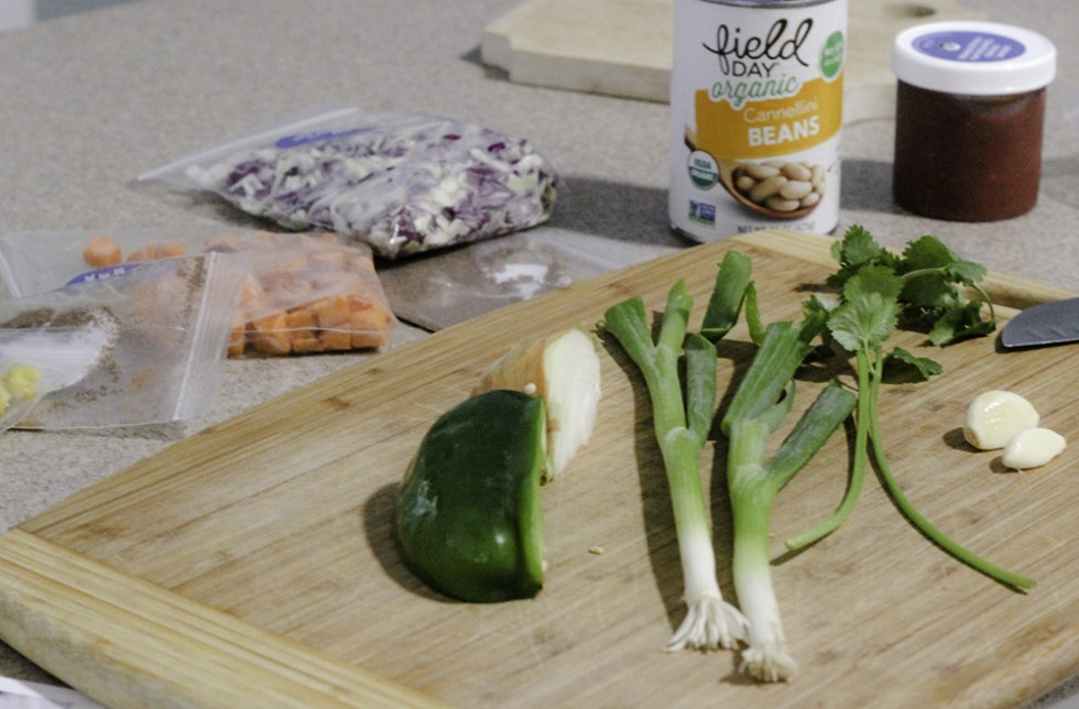 Ingredients for Green Chef meal