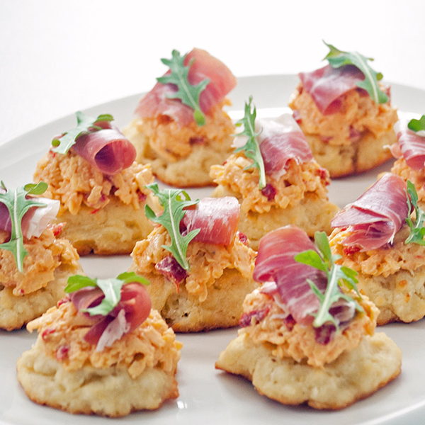 Easter brunch recipes- Pimento cheese and prosciutto biscuits
