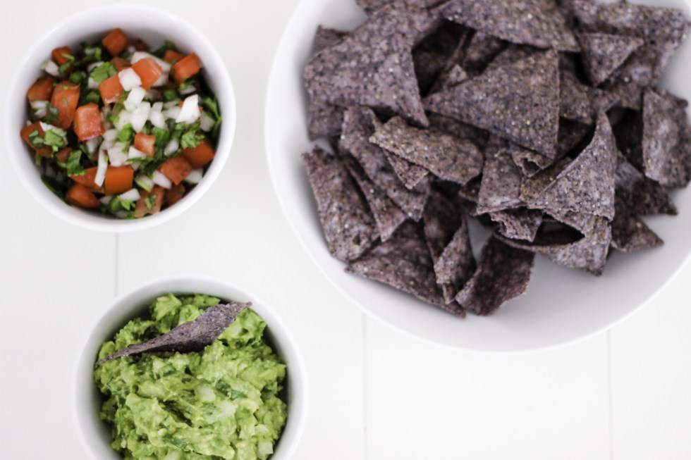 Guacamole and pico de gallo make the best appetizers