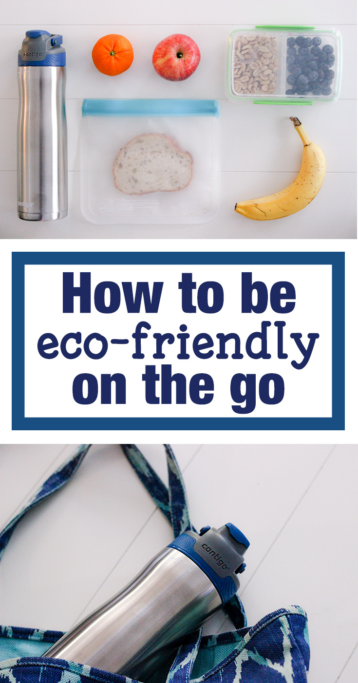 How to be eco friendly on the go with snacks and Contigo