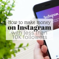 How to Make Money on Instagram with Less than 10K Followers