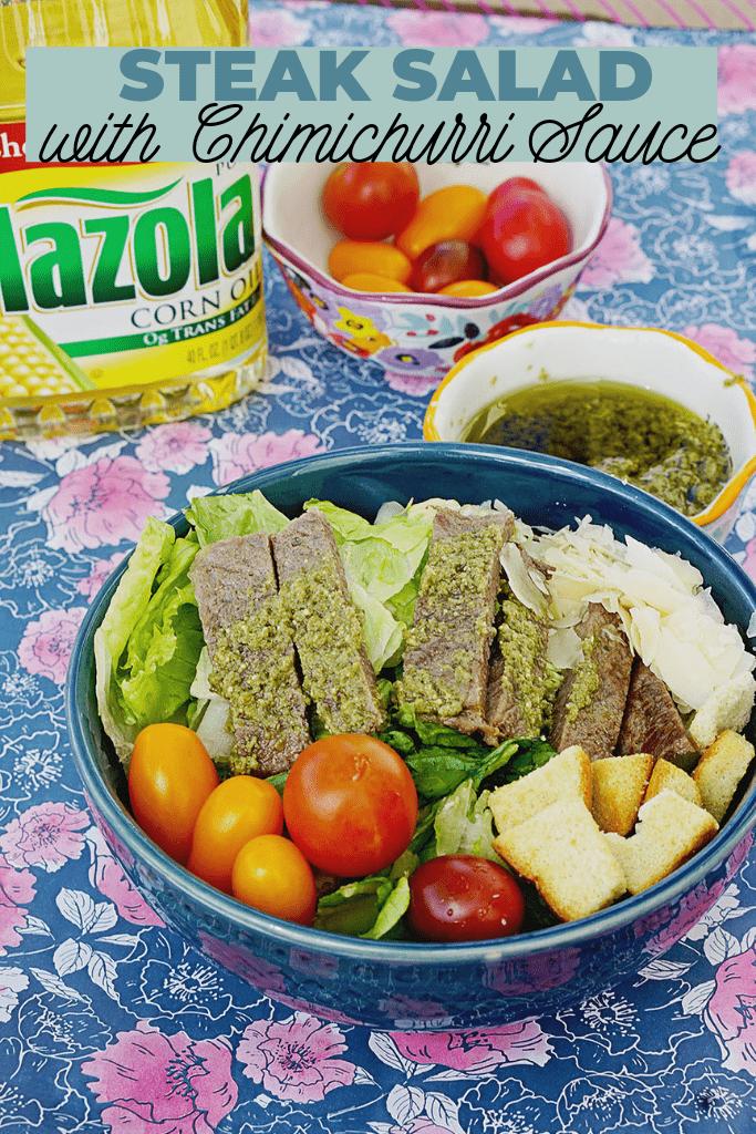 Simple Steak Salad With Chimichurri Sauce