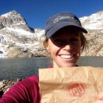 The author, happy to have RAD granola on her trail run.
