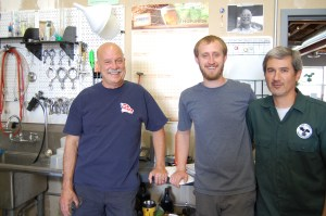 Head Brewmaster Tom Horst, Brewer Colin Woods and Bartender Jon Dosik. Photo by Rachel Dugas.