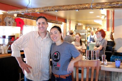 General Manager Eric Hulme and Co-owner Dana Query at GBK Longmont. photo by rachel dugas