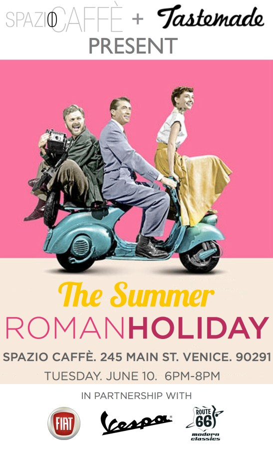 Roman Holiday flyer Spazio Venice