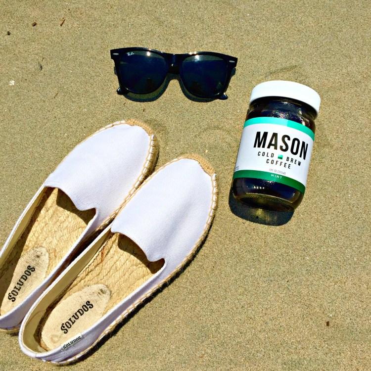 mason coffee flatlay