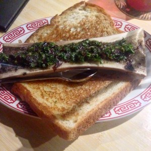 Bone marrow toast, served at Rhum