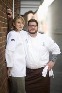 Chefs Kate and Matt Jennings of soon-to-be-open Townsman in Boston