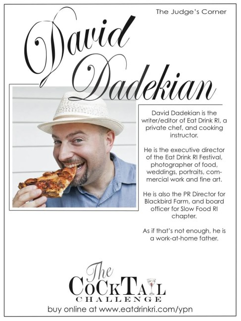 The Cocktail Challenge Judge David Dadekian