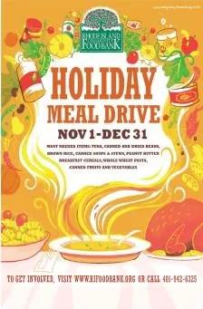 Rhode Island Community Food Bank Holiday Meal Drive 2013