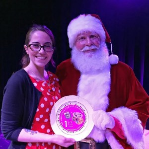 north bakery's Kelly Dull with Santa Claus