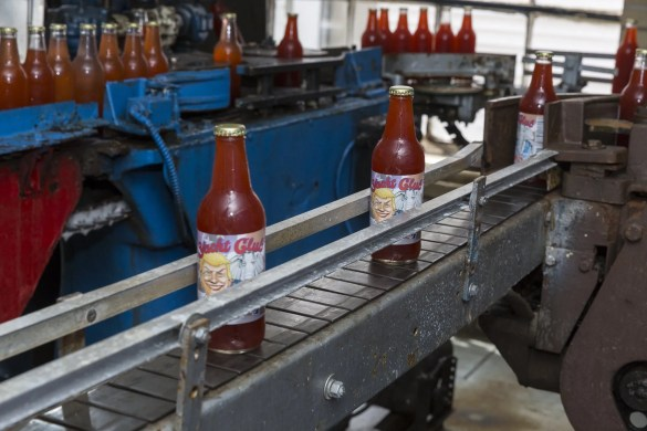 Yacht Club Bottling Works Soda Pop Poll being bottled in North Providence, Rhode Island