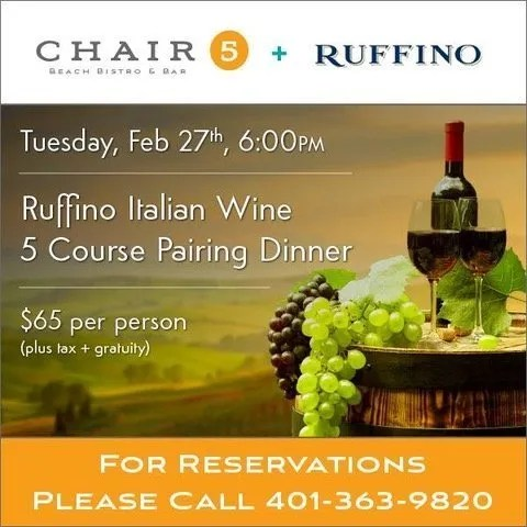Chair 5 Monthly Wine Dinner