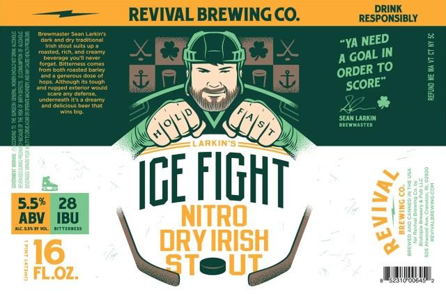 Revival Brewing Company Larkin's Ice Fight Nitro Dry Irish Stout