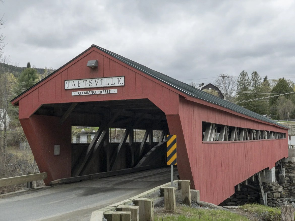 Taftsville Covered Bridge in Woodstock, Vermont