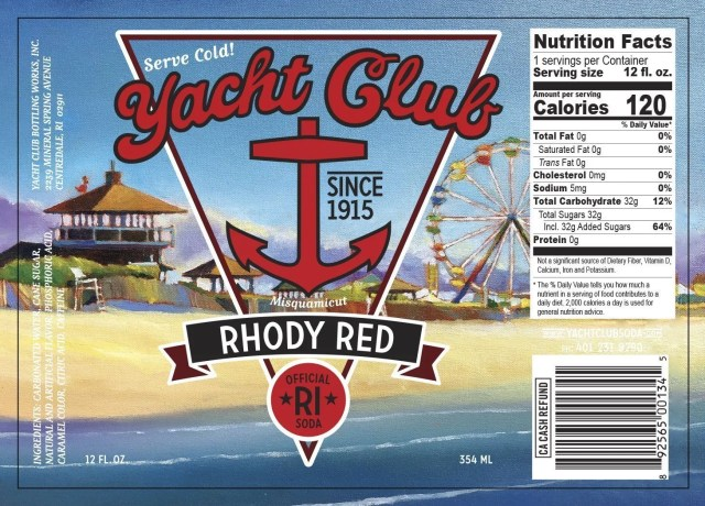 Yacht Club Bottling Works Rhody Red label