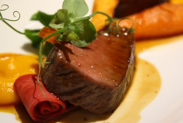 Lamb, Sweet Carrot and Wild Pea Shoots