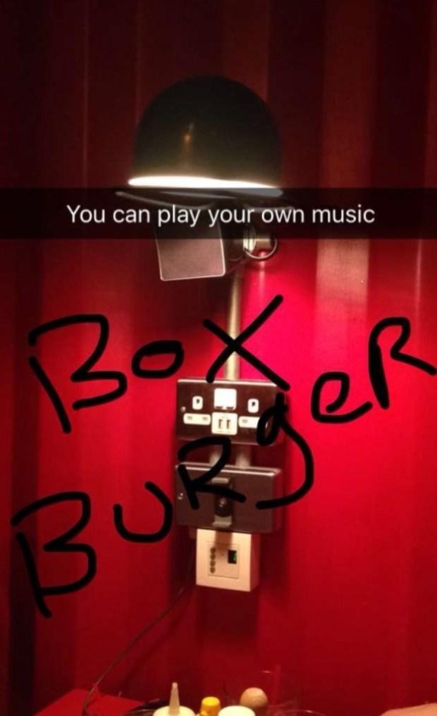 Box Burger Boom Box