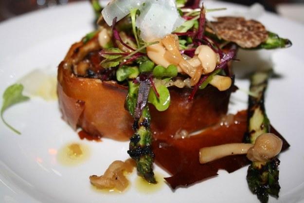 Wild Mushroom Filo, Grilled Asparagus & Spring Truffle