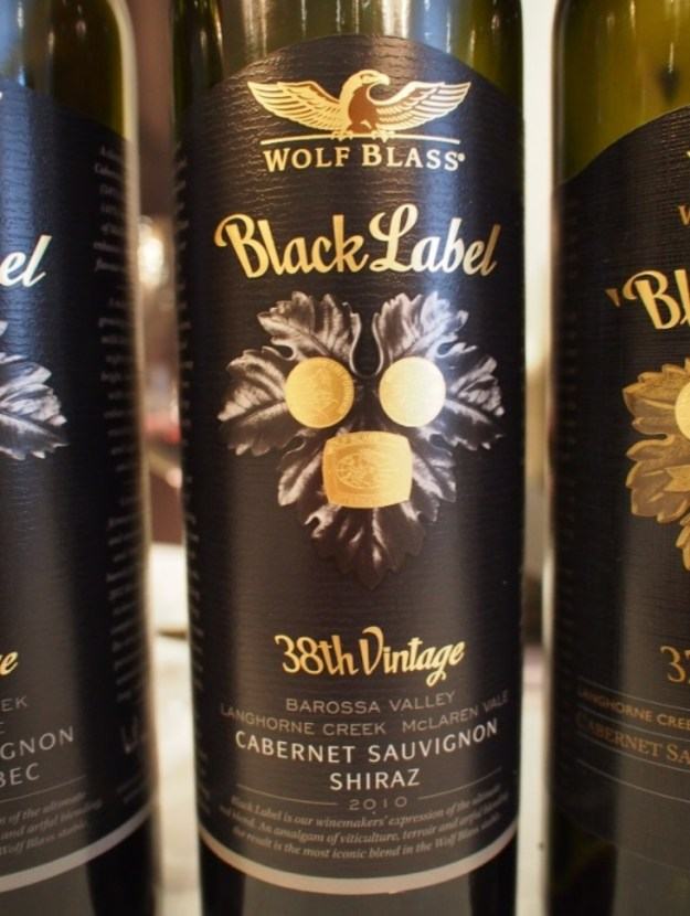 The 2010 Black Label Wolf Blass