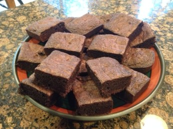 18 perfect brownies!