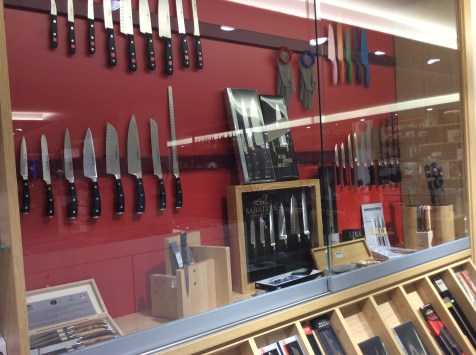 Knives in a shop