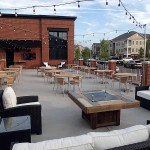 The spacious patio at The 502. | Photo by Steve Coomes