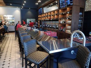 The bar area at LouVino Middletown.  | Photo by Steve Coomes
