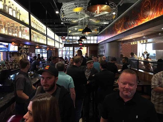 The bar at Guy Fieri's Smokehouse. | Photo by Steve Coomes