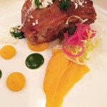 Roast suckling pig with calabaza puree, Fernando Martinez