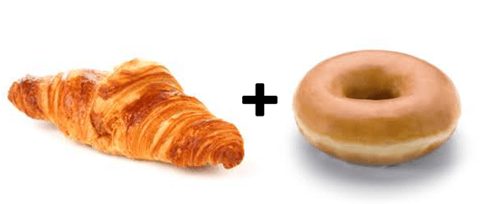 When a croissant loves a donut very much...