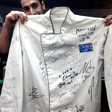 Jason's autographed George Brown chef coat.