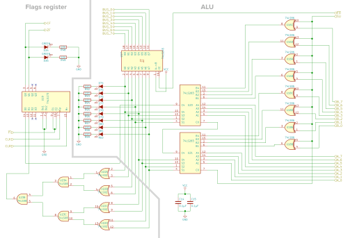 small resolution of schematic of the alu