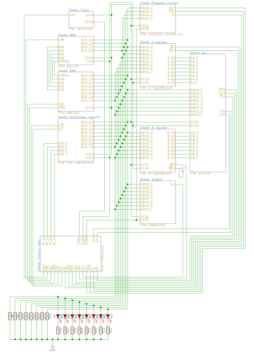 small resolution of build an 8 bit computer ben eater mix high level schematic of the computer