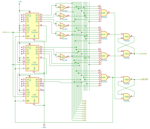 small resolution of  schematic of the vertical counter and sync circuit