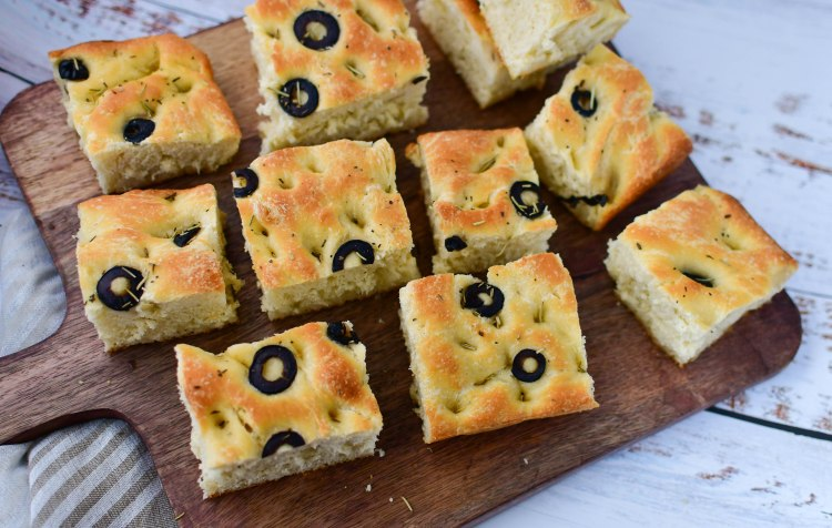 Focaccia with Olive and Herbs 2