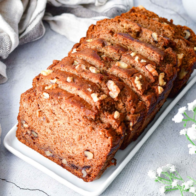 Healthy Banana Nut Bread 1
