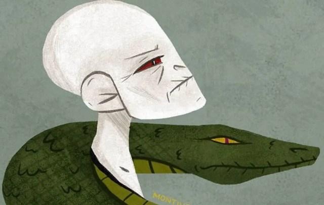 Fan Art Voldemort con il fedele serpente Nagini