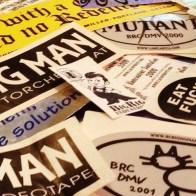Burning Man stickers