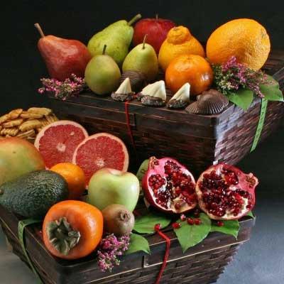 Organic Fruit Gift Baskets