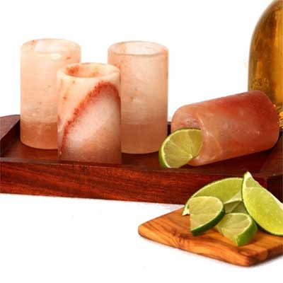 Tequila salt shot glasses